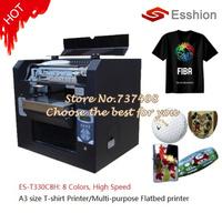 Multi-purpose 8 colors A3 size DTG T-shirt printer /digital flatbed printer/Epson Direct to Garment Printer/Phone case printer