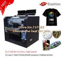 Multi-purpose 8 colors A3 size DTG T-shirt printer /digital flatbed printer/Epson Direct to Garment Printer/Phone case printer