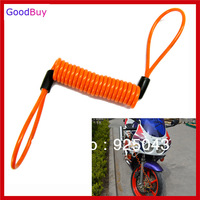 Free shipping New Creative Motorcycle Motorbike Disc Lock Spring Reminder Cable Minder disc lock riminder rope