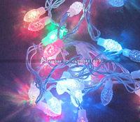 10M free shipping! Nut Fruit shape LED Christmas light! 9W RGB flash color AC110V/AC220 1pcs 10M 100leds waterproof led light