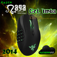 Razer Naga 2014 Gaming Mouse, Right Hand Original & Brand New, 8200dpi Razer Precision 4.0G Laser Sensor,Without Retail BOX.