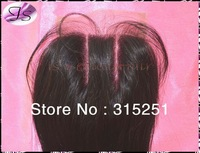 """Queen hair 3 parts closure virgin Brazilian lace top closures 4x4"""" silk straight bleached knots closure color 1b free shipping"""