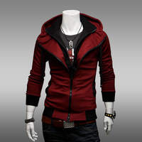 Free Shipping Hot Sweatshirt Casual Cardigan Slim Zip Up Hoodie
