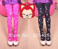Newest Style Spring Autumn Children Leggings,5-9 Years Girls' Dance Pants,Top Quality Natural Velvet Mice Print Cute Legging Kid