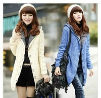 2013 new women's winter coat long paragraph cardigan plus thick velvet sweater twist