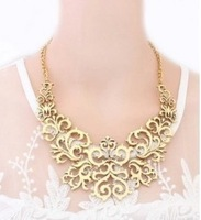Unique Personality Hollow Out  Alloy Flower Short Choker Necklace D15R10 Free Shipping