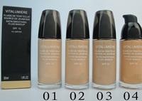 2pcs/lot vitalumiere fluide de jeunesse satin smoothing fluid makeup foundation 30 ml 4 different color free shipping!