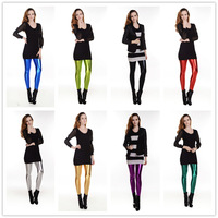 2013 New Leggings For Women Candy Color Women's High Stretched Yoga Autumn Summer Best Selling Neon Faux Leather Leggings