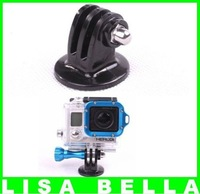 2 pcs lot GoPro Tripods Mount Adapter For Hero HD Hero1 Hero2 Hero3, Outdoor Action Camera Accessories Monopod Free Shipping