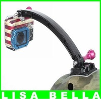 Outdoor Motorcycle Cycling Helmet Extension Arm Fromt Mount For GoPro HD Hero,Hero2,Hero3, Free Shipping