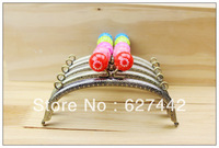 15CM purse frame, colorful kiss lock, Flower Candy Bead Metal Purse Frame,Wallet  Frame,5 Colors Cute Coin Purse Frames