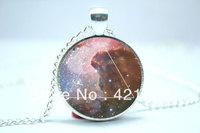 10pcs/lot Galaxy Triangle Necklace, Hipster Nebula Jewelry, Geometric Star Pendant Glass Cabochon  Necklace 4