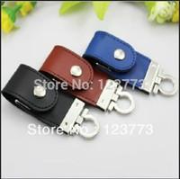 New fashion  leather key chain model usb 2.0 memory flash stick thumb pen drive  key chain 4-32GB