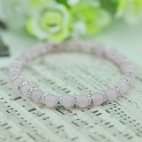 Natural pink crystal bracelet fashion bohemia Women