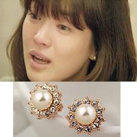 Wholesale sales Song of winter pearl stud earring female earrings  10 pairs /lots
