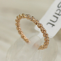 Wholesale sales Rose gold ring yeh female twisted finger ring  10pcs/lots