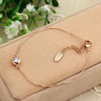 Bracelet female fashion rose gold rhinestone brief accessories