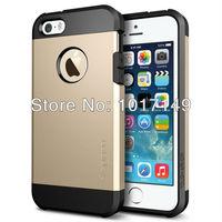Hot Sale Korean Style New Gold foil Case SLIM ARMOR SPIGEN SGP case for iPhone 4 4G 4S MOQ:1pcs Retail Package