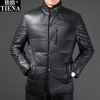 Men's clothing 2013 coat medium-long down coat stand collar down coat male down coat