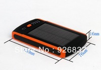 Free shipping many adapters solar charger for smartphone Dual usb 6000mah solar charger, solar mobile power bank