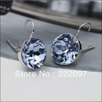 Wholesale Rhinestone Crystal Austria genuine 1062765 BELLA light blue Ms. Bella Pierced Earrings Jewelry Free shipping