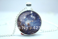 10pcs/lot Galaxy Necklace, Heavenly Nebula Pendant, Stars And Universe Jewelry  6
