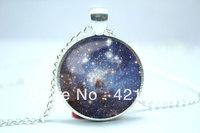 10pcs/lot Galaxy Necklace, Heavenly Nebula Pendant, Stars And Universe Jewelry  6