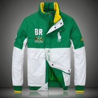 2013 men's   wadded jacket fashion       cotton-padded jacket male