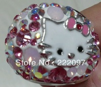 Wholesale Rhinestone Crystal Austria authentic 2013 new Hello Kitty Ms. Ring 1175741 holiday gift Free shipping