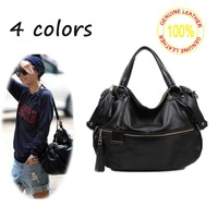 2013 Winter Fall Fashion Casual Bag Genuine Leather cowhide shoulder bag Same Totes with Korea star Lee Hyolee