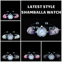 SHAMBALLA CRYSTAL DISCO BALL BLING BRACELET DIAMANTE SHAMBALA WATCH New Arrivel Christmas gifts Wholesale