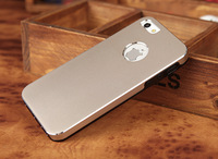 2013 Fashion luxury highly textured Metal Aluminum mobile cell phone case for Apple iphone 5 free shipping