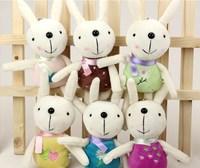Cartoon Rabbit Phone Straps 17Cm Kids Toys Key Ring Decorator Soft Rabbit Plush Toy nice gifts for kids Free Shipping Wholesale