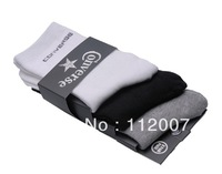 free shipping Wholesale ~ 10pair /lot,Factory direct sales. Cotton Men Sport Ankle Socks Fit 37-44 Yards (white\black\gray)