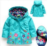German original single girls little mouse topolion sleeved hooded windbreaker / jacket