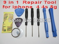 9 in 1 Repair Opening Pry Tools Kit Set For iPhone 4 4S 5 repair opening tools
