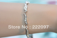 Wholesale Rhinestone Crystal Austria genuine silver Classic waves pods shaped girls bracelet 1156228 Mother's Day Gifts Shipping