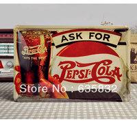 20*30CM Pepsi Tin Sign Coke Poster Wall Decor Iron Painting Metal Plaques Decorative Panel