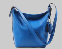 Hot New Korea Women Genuine pebbled Leather tassel luxury Shoulder Bag/ messenger Bag/cross body bag