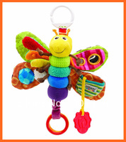 Musical Baby Musical Inchworm Plush toy toddler Infant kids toys Fly Honey Bee Toys Wrist Rattles Free Shipping