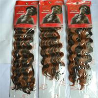 free shipping synthetic curly weave synthetic hair weaving weaving braid Black Elegant KK DEEP 18INCH 5PCS\LOT