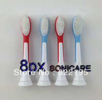 8PCS Factory Retail Wholesale Electric Toothbrush Heads P-HX-6044 Replacement for SONICARE FOR KIDS Free Shipping