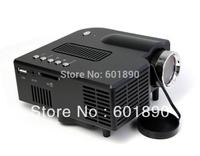 UC28 PRO HDMI Portable Projector 320*240 AV VGA SD USB Slot Remote Control Black Wholesale, free shipping #161087