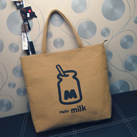 Muji fluid cloth high quality hello milk bags women's handbag female big shoulder bag canvas bag female