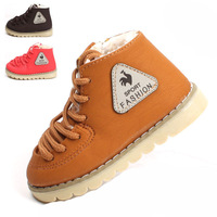 Wholesale 2013 winter shoes soft bottom new models lace baby cotton thick padded shoes boots 21-25