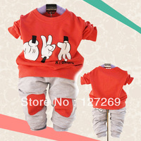 2013 Boys Girls Casual Clothing Set Cute Pattern Sweater+Pants 2Pcs Autumn Long-sleeve Free Shipping