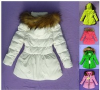 free shipping 2013 new style baby  girl  100% white duck down   coat ,baby down jacke   , baby winter  coat   1pc