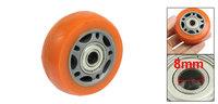 58mm Dia PU Skating Roller Skatboard Wheel Orange Gray ABEC7 608ZZ Bearing