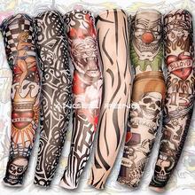 Fritadeira Sem Oleo New free Shipping! 6 Pcs Nylon Stretchy Fake Tattoo Sleeves Arm Stockings 140 Kinds of Styles To Choose From(China (Mainland))
