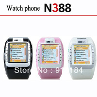 Cheap Watch Phone N388 GSM Quad Band Unlcoked Mobile Phone Watch with 1.4 inch Touch Screen Camera Bluetooth Mp3 FM GPRS